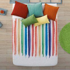 bouti-modelo-colors-247 pespunteada con relleno de algodón Para cama de 90/105/135 cm Regalo: 1 funda de cojín de 50 x 50 cm precio bajo