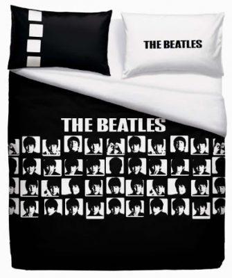 Funda nórdica THE BEATLES BLACK GRAPHICS 250 x 270 cm Dos fundas de almohada reversibles de 50 x 80 cm Algodón 100% Mejor calidad Precio bajo