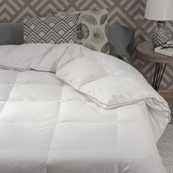 Relleno nórdico modelo HUNGARY de fibra para cama de 150/160 cm Relleno poliéster Tejido exterior 100% algodón Gran calidad a bajo precio
