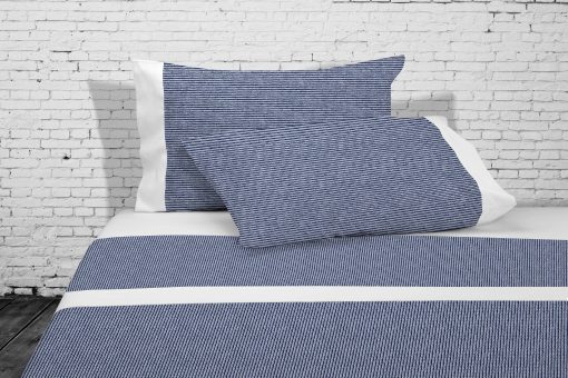 Juego de sábanas BLU: Encimera, bajera ajustable y funda de almohada Para cama de 135/150 cm Mejor calidad a bajo precio