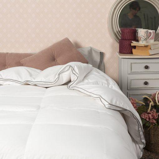 Relleno nórdico modelo PLATINUM natural para cama de 135 cm Relleno 99% Plumón y 1% Pluma de oca blanca Mejor calidad a bajo precio
