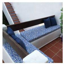 Colecciones para exterior, tejidos en azul