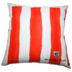 Cojín Athletic club rayas Producto con licencia oficial del Athletic Club Medida 50 x 50 cm Mejor calidad a bajo precio