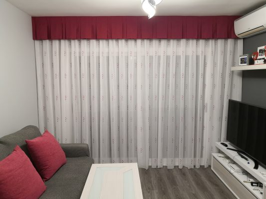 cortina a palas planas
