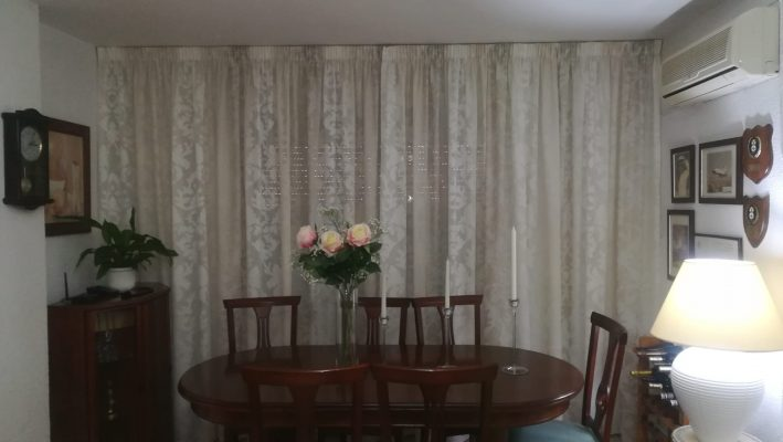 cortina fruncidas