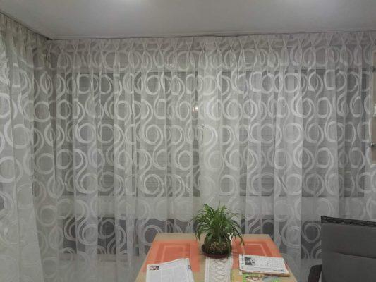 cortina organza