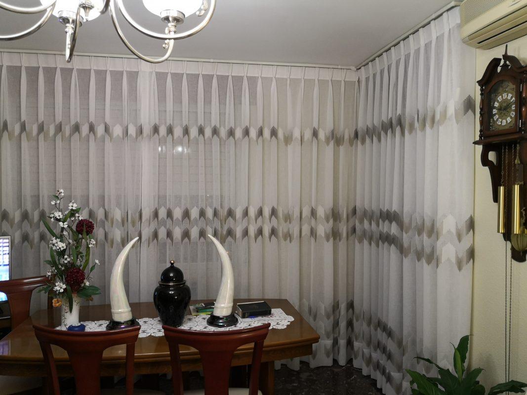 cortinas a pinza americana