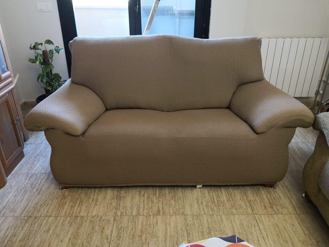 funda de sillón 3 plazas color beig
