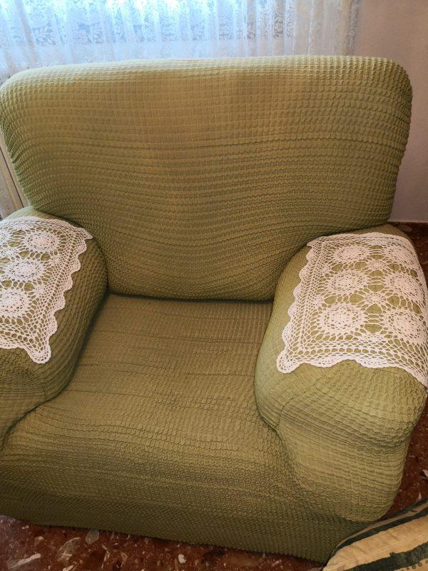 funda de sillón 1 plaza color verde