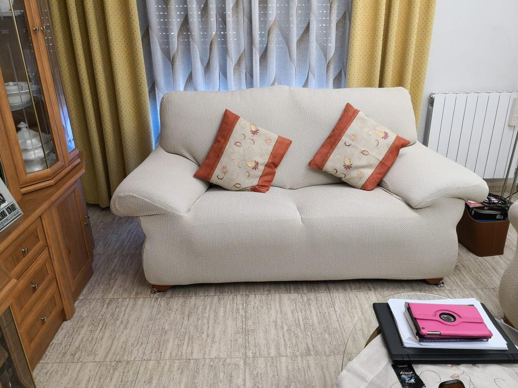 funda de sillón 3 plazas color blanco