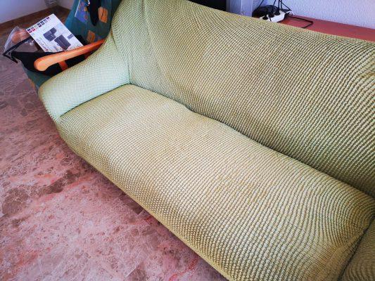 funda sofá 3 plazas verde