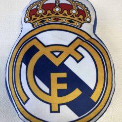 Cojín fútbol Real Madrid Producto con licencia oficial del Real Madrid Medida 25 x 35 cm Mejor calidad a bajo precio