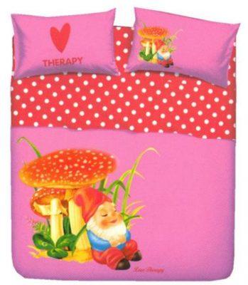 Juego de sábanas modelo ENANITOS de alta calidad italiana 100% algodón para cama de 90 cm Mejor calidad a bajo precio.
