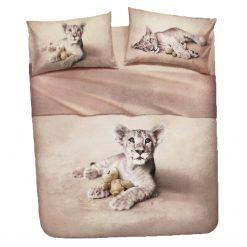 Juego de Sábanas Natura modelo LION Encimera, bajera ajustable y funda de almohada 100% algodón Para cama de 90 cm Alta calidad a bajo precio