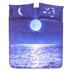 Juego de Sábanas Natura modelo CHIAR DI LUNA Encimera y funda de almohada 100% algodón Para cama de 90 cm Bajo precio y Alta calidad