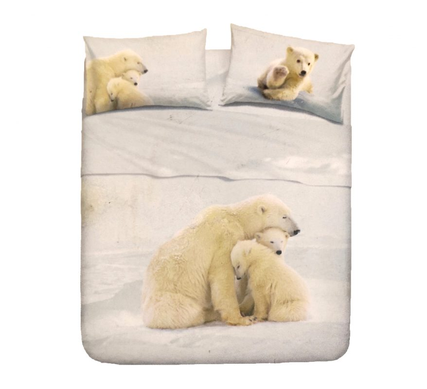 Juego de Sábanas Natura modelo FAMILY TEDDY Encimera y funda de almohada 100% algodón Para cama de 90 cm Bajo precio y alta calidad