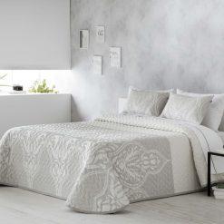 Bouti TITA en jacquard Para cama de 150 cm de anchura Medida del producto 250cmx 270 cm Incluye 2 fundas de cojín regalo Mejor calidad a bajo precio